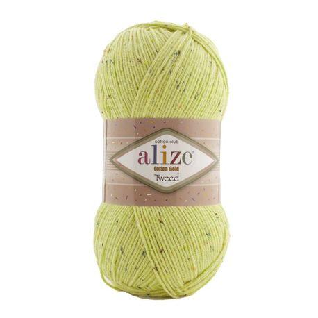 Main cotton gold tweed 439 green