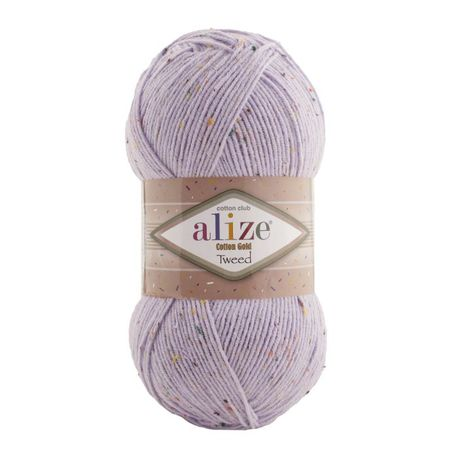Main cotton gold tweed 682 lilac
