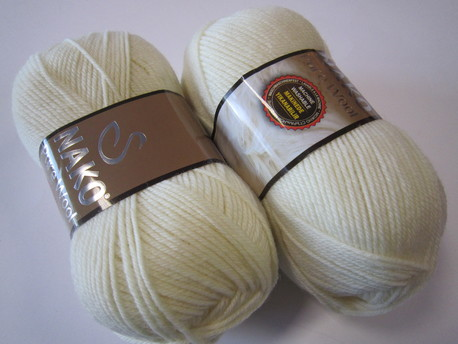 Main nako pure wool 2378 dab balta