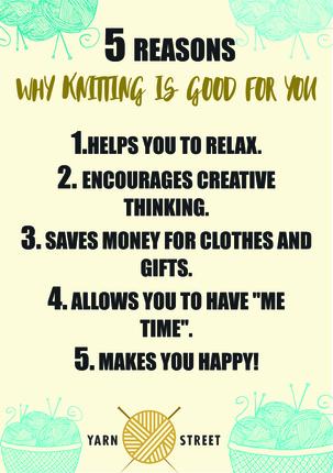 Large 5 reasons knitting