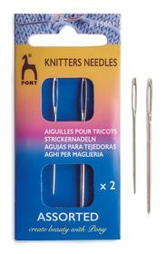 Thumbnail pony 15801 knitters needle plain eye 14 17 pi